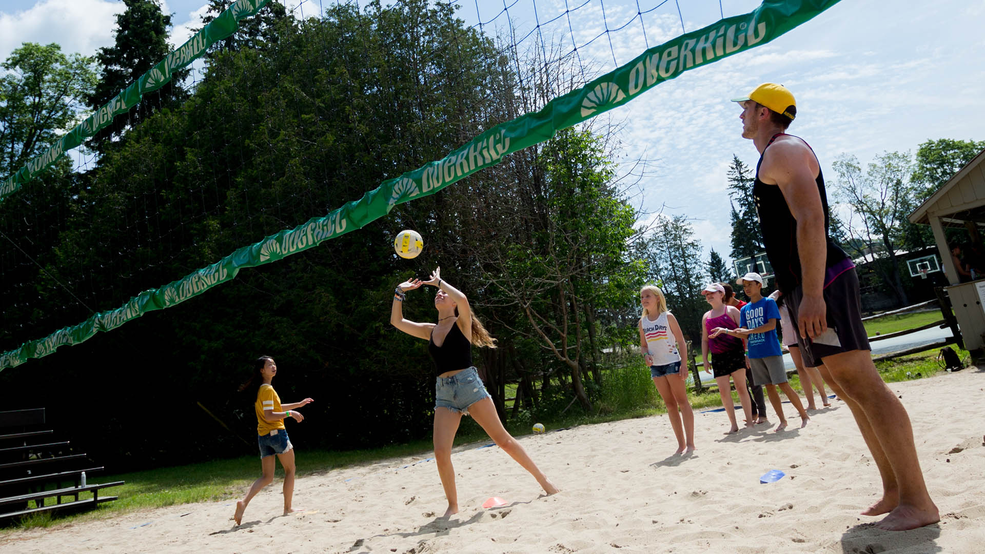 Volleyball is a great outdoor sport at Muskoka Woods