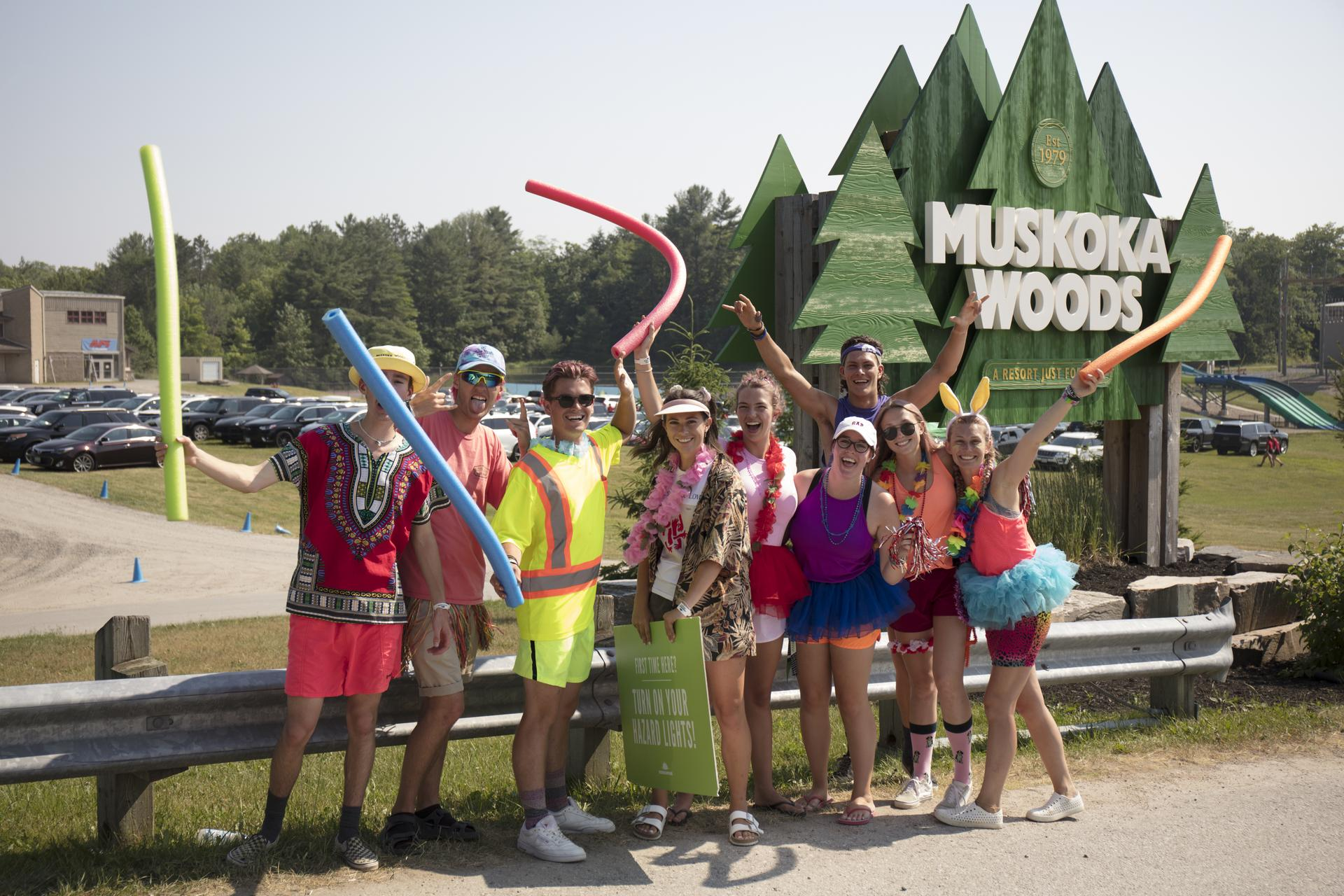 Muskoka Woods staff welcome guest to camp